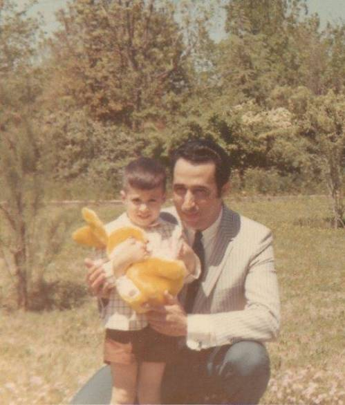 My father and I, Easter Sunday 1967.