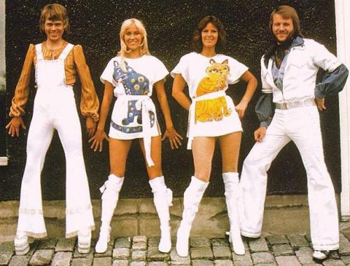 As radiant as they wanted to be: Ulvaeus, Fältskog, Lyngstad and Anderson in their prime.
