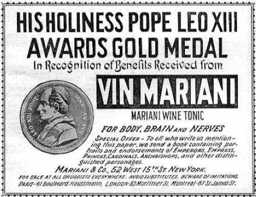 Pope Leo XIII liked Vin Mariana so much he gave it a medal.