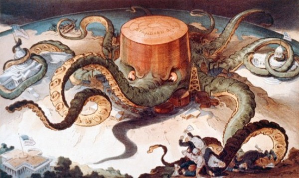 1904 Standard Oil Octopus Chief Writing Wolf