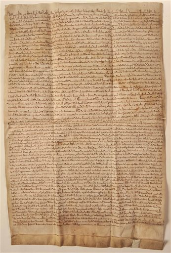 "A copy of the original ""Magna Carta."""
