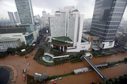 Flooding earlier this year almost paralyzed Jakarta.