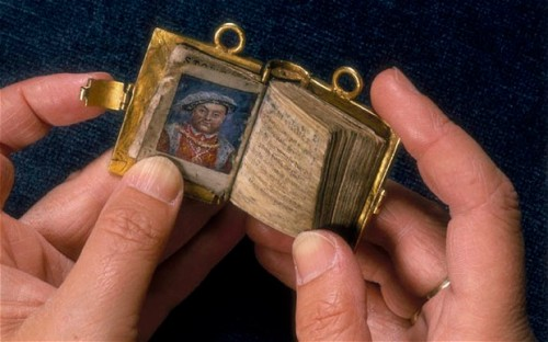 A miniature book once owned by Anne Boleyn.