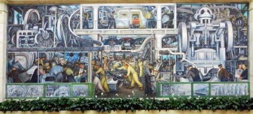 "On the auction block?  A panel of Diego Rivera's ""Detroit Industry."""