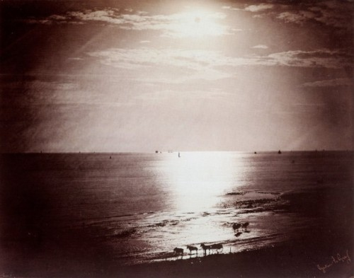 """Seascape"", Normandy, France, by Gustave le Gray_1856"
