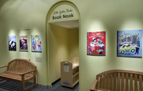 "The ""Little Golden Books"" 'Book Nook' at National Museum of American History."