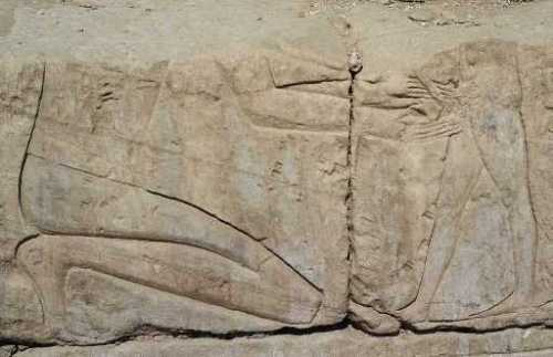A purported circumcision from the Temple of Khonspekhrod in Luxor, Egypt, c. 1360 B.C.