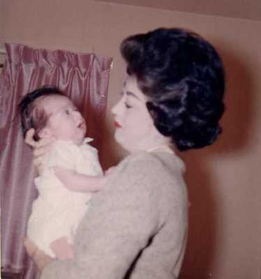My mother and I on December 1, 1963.