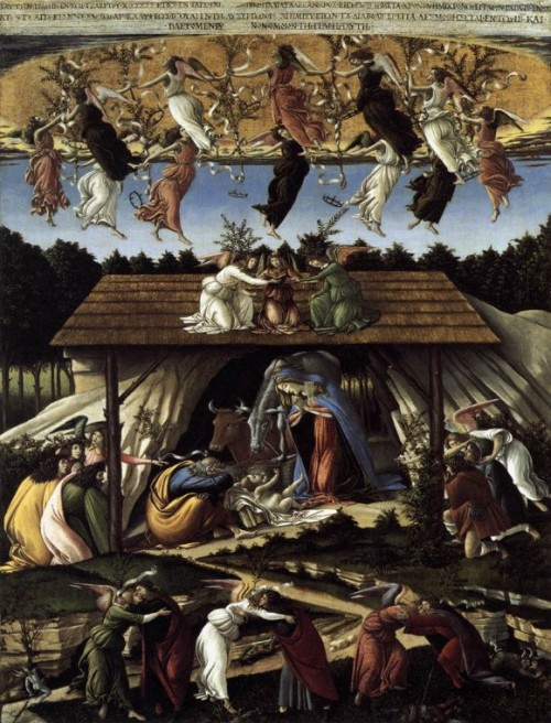 "Sandro Botticelli, ""The Mystical Nativity,"" National Gallery of London."