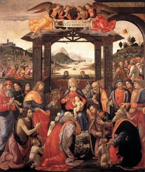 """Domenico di Ghirlandaio, """"Adoration of the Magi,"""" Ospedale degli Innocenti, 1488."""