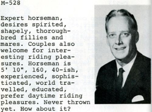 Has horse; will romp.