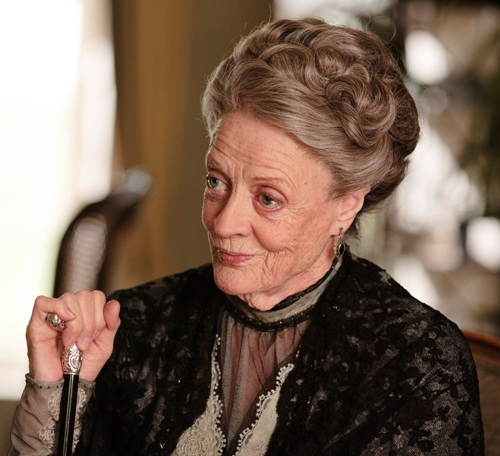 Crotchety Violet Crawley doing what she does best – smirking.