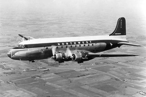 A Northwest DC-4 plane, like Flight 2501.
