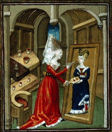 "Unknown artist from Giovanni Boccaccio, ""De Mulieribus Claris,"" anonymous French translation, Le livre de femmes nobles et renomees, France, c 1440 British Library."