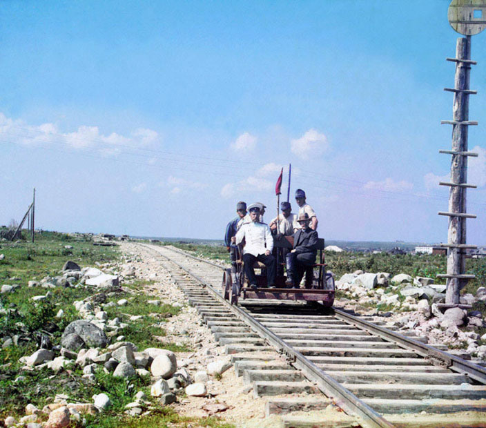 Outside Petrozavodsk on the Murmansk Railway, 1915.