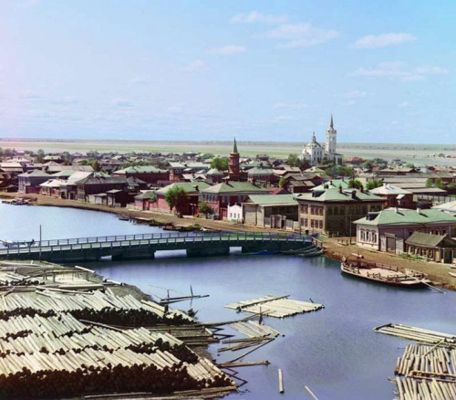 City of Tobol'sk from the Bell Tower of the Church of the Transfiguration, 1912.
