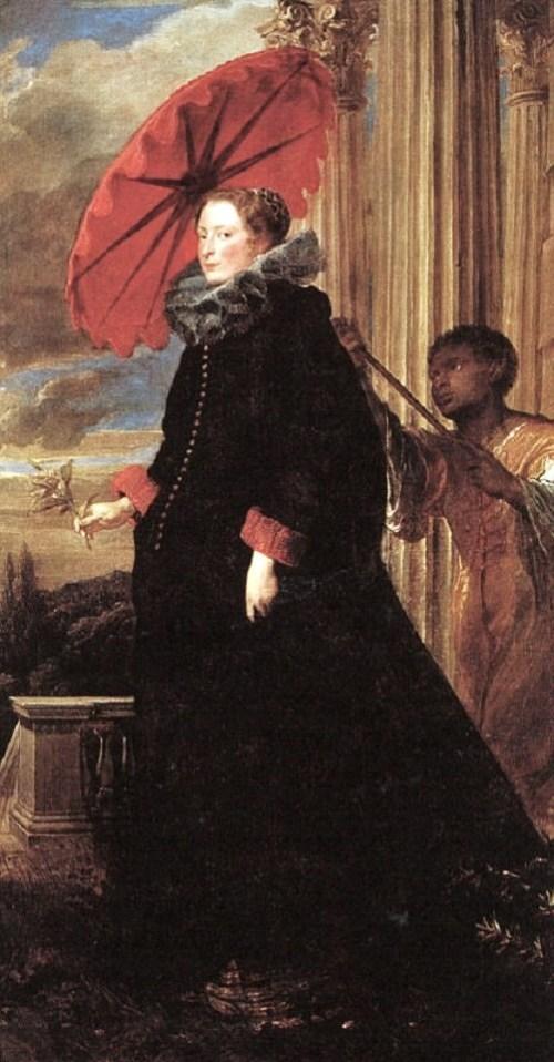 """Marchesa Elena Grimaldi,"" Anthony van Dyke, 1623."