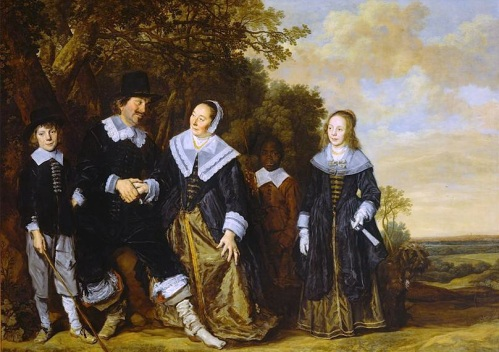 """Belgium Family Group in a Landscape,"" Frans Hals, 1648."