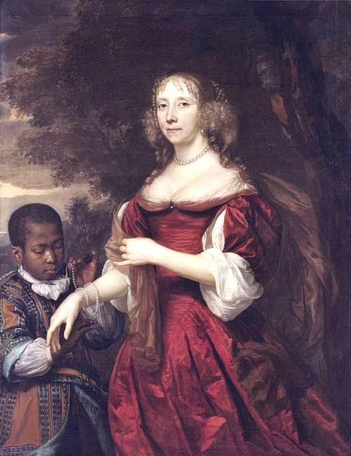 """Portrait of Margaretha van Raephorst,"" Jan Johannes Mijtens, 1668."