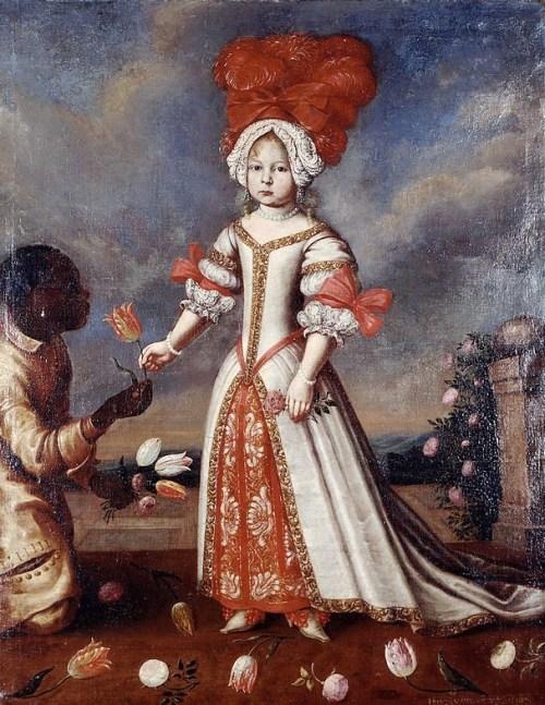 """""""Portrait of Franziska Sibylla Augusta von Sachsen-Lauenburg,"""" Georg Adam Eberhard, 1678."""