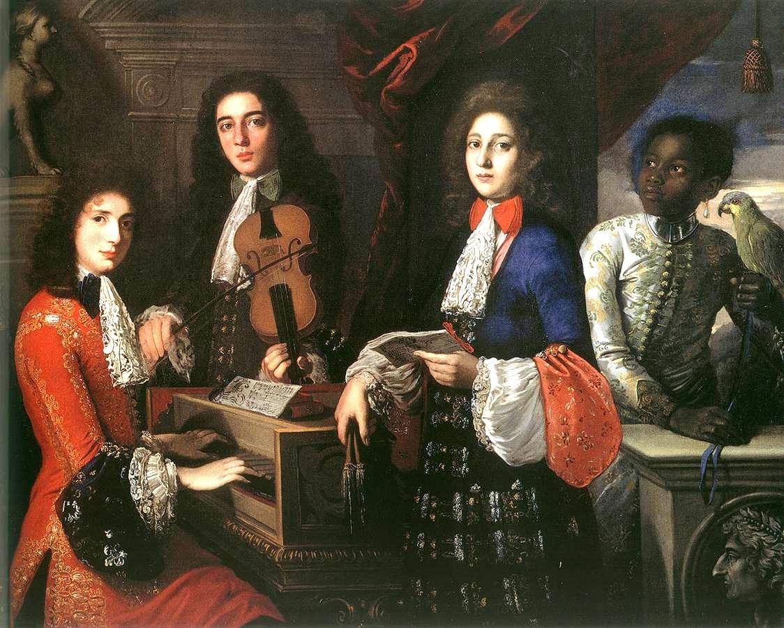 """""""Three Musicians of the Medici Court,"""" Anton Domenico Gabbiani, 1687."""