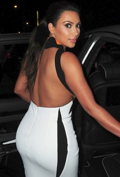 Kim Kardashian Back Side View Going in the Car