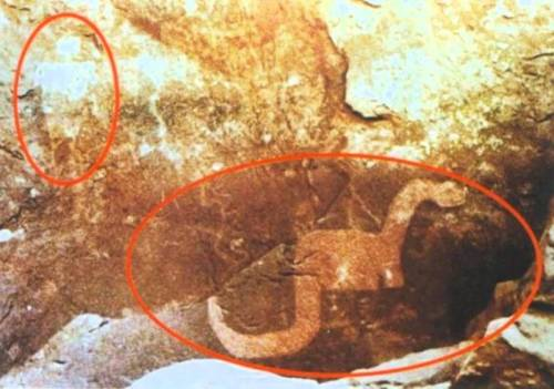 Alleged proof that humans and dinosaurs lived and played together.
