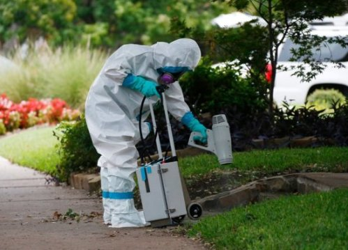 On October 5, a hazardous-materials crew cleaned outside the Dallas apartment building of a nurse who was infected with Ebola.