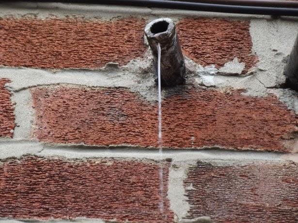 leaking overflow pipe