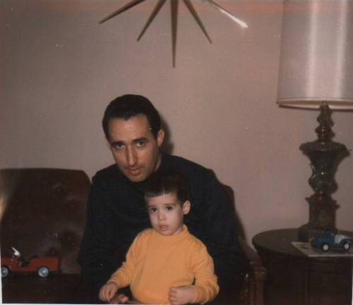 My father and me in 1966.