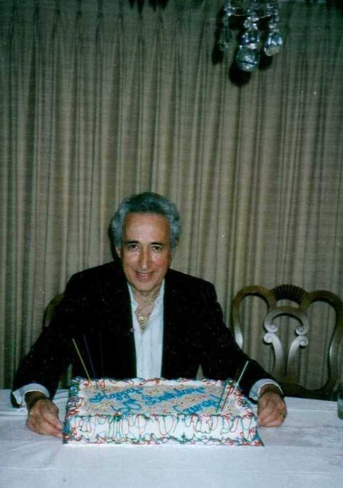 My father at his 60th birthday party in 1993.