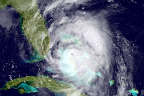 A National Oceanic and Atmospheric Administration (NOAA) image of Hurricane Matthew moving towards Florida on October 6, 2016.